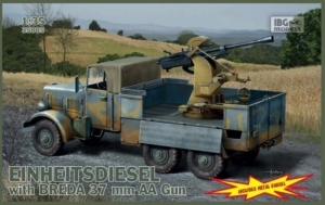 Ciężarówka Einheitsdiesel z działem Breda IBG 35005