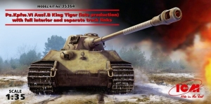 Czołg Pz.Kpfw.VI Ausf.B King Tiger z wnętrzem ICM 35364