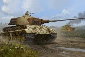 Czołg Tiger II z wieżą Henschel lipiec 1945 Hobby Boss 84533