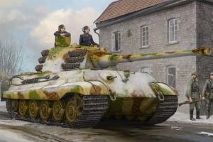 Czołg Tygrys Królewski King Tiger z wieżą Henschla luty 45 Hobby Boss 84532