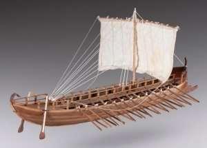 D001 Greek Bireme drewniany model 1-72