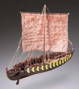 D002 Viking Gokstad drewniany model w skali 1-72