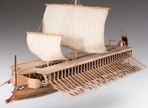 D004 Greek Trireme drewniany model 1-72