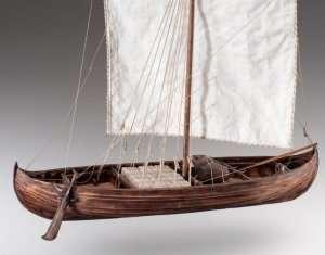 D007 Viking Knarr - drewniany model knara w skali 1-35