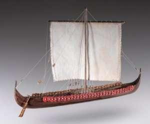 D014 Viking Longship - drewniany model w skali 1-72