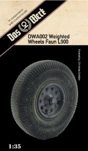 Das Werk DWA002 Akcesoria - opony do Faun L 900 skala 1-35
