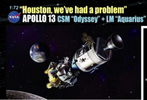 Dragon 11020 Apollo 13 Houston mamy problem CSM Odyseja i LM Aquarius