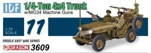 Dragon 3609 IDF 1/4-Ton 4x4 Truck w/MG34