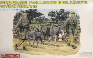 Dragon 6077 Niemieccy żołnierze z osłami