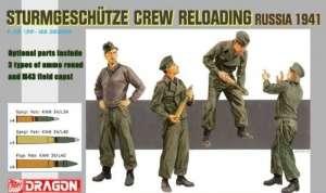 Dragon 6192 Sturmgeschutze Crew Reloading Russia 1941