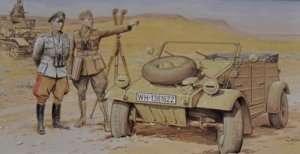 Dragon 6364 DAK Kubelwagen w/Officers
