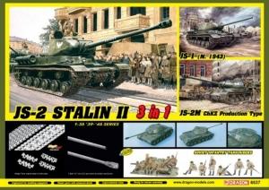 Dragon 6537 IS-2 Stalin II 3 w 1 z figurkami