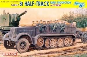 Dragon 6545 Sd.Kfz.7 8t Half-track with Crew