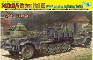 Dragon 6711 Sd.Kfz. 10/4 fur 2cm FlaK 30 1940 Producion w/Ammo Trailer