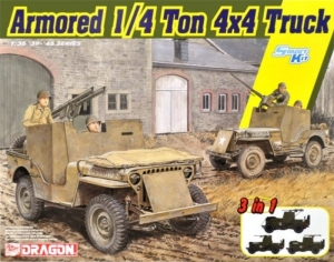 Dragon 6727 Pojazd 1/4 ton 4x4 model 3 w 1 w skali 1-35