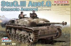 Dragon 6891 StuG III Ausf.G Concrete Armored w/Zimmerit