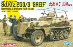 Dragon 6911 Transporter opancerzony Sd.Kfz.250/3 Greif z wnętrzem
