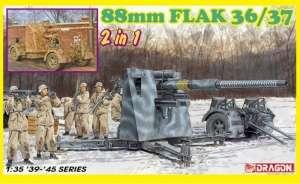 Dragon 6923 Działo przeciwlotnicze 88mm Flak 36/37 2w1