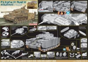 Dragon 6933 Czołg Pz.Kpfw.IV Ausf.H 2w1 Zimmerit