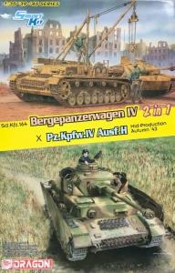 Dragon 6951 2w1 Bergepanzerwagen IV x Pz.Kpfw.IV Ausf.H