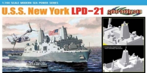 Dragon 7110 Okręt USS New York LPD-21 skala 1-700