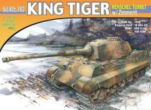 Dragon 7240 King Tiger Henschel Turret w/Zimmerit
