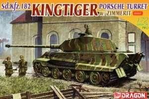 Dragon 7254 Sd.Kfz. 182 Kingtiger Porsche Turret w/zimmerit