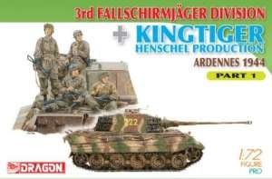 Dragon 7361 3rd Fallschirmjager Division and Kingtiger Henschel Production Part 1