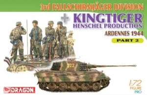 Dragon 7362 3rd Fallschirmjager Division and Kingtiger Henschel Part 2