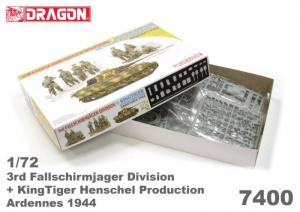 Dragon 7400 Czołg Kintiger oraz figurki 3 Dywizja Powietrznodesantowa