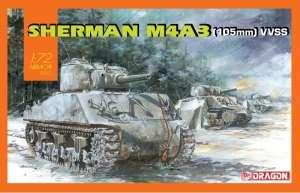 Dragon 7569 Sherman M4A3 105mm VVSS model czołgu