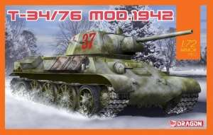 Dragon 7595 Czołg T-34/76 Mod.1942 skala 1-72