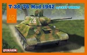 Dragon 7601 Czołg T-34/76 Mod.1942 z odlewaną wieżą 1-72