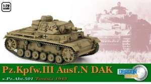 Dragon Armor 60603 Pz.Kpfw.III Ausf.N DAK s.Pz.Abt.501 Tunisia 1943
