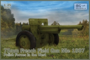 Działo polowe 75mm Mle 1897 polskich sił zbrojnych IBG 35057