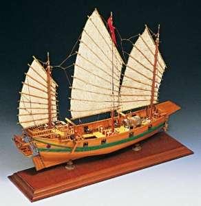 Dżonka chińska Amati 1421 drewniany model 1:100