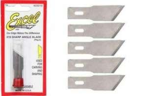 Excel 20019 Ostrza wymienne do nożyka modelarskiego 5 szt.