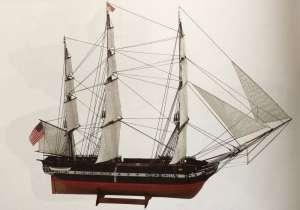 Fregata USS Constitution BB508 drewniany statek 1-100