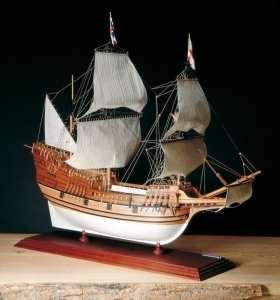 Galeon Mayflower Amati 1413 drewniany model okrętu 1:60