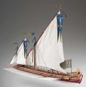 Galera La Real drewniany model okrętu 1-72 D015