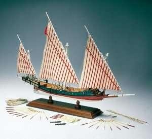 Grecka galera Amati 1419 drewniany model 1:65