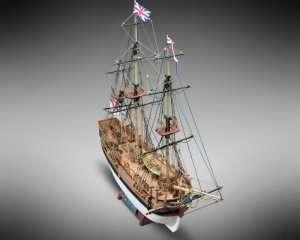 HMS Bounty Mamoli MV52 drewniany model 1-100