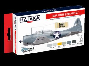 Hataka AS53 zestaw amerykańskie samoloty farby akrylowe