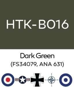 Hataka B016 Dark Green - farba akrylowa 10ml