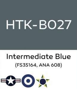Hataka B027 Intermediate Blue - farba akrylowa 10ml