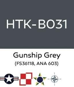 Hataka B031 Gunship Grey - farba akrylowa 10ml
