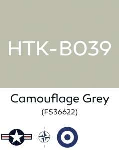 Hataka B039 Camouflage grey - farba akrylowa 10ml