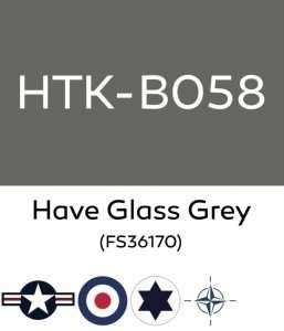 Hataka B058 Have Glass Grey - farba akrylowa 10ml