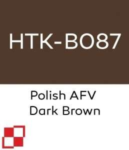 Hataka B087 Polish AFV Dark Brown - farba akrylowa 10ml