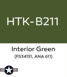 Hataka B211 Interior Green - farba akrylowa 10ml